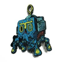"THE OLIVE KNIGHT PINS ""BLUE ROBOT"""
